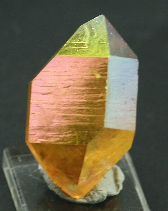 Sunset Aura Quartz Crystal for Sale by BandLMinerals on Etsy