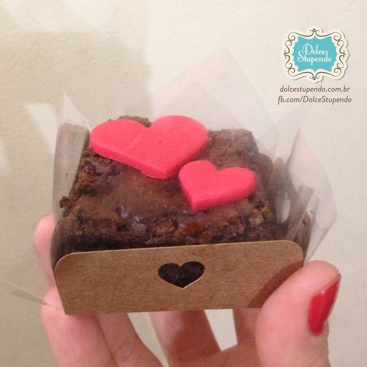 Brownie individual, para o dia dos namorados ❤️