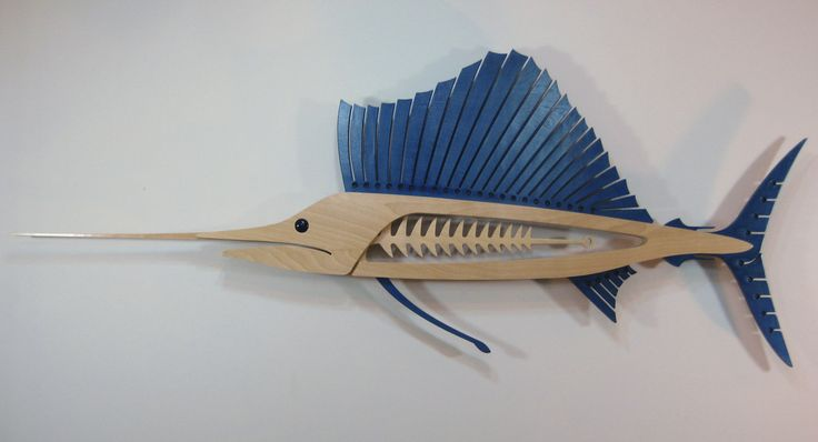 Sailfish Wall Sculpture by TheWoodenFishMarket on Etsy