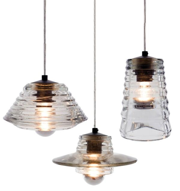 pressed glass pendants by tom dixon  from ABC Carpet & Home