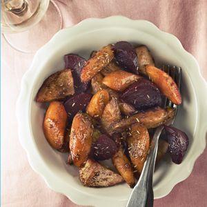 Recept - Geglaceerde wortelgroenten met balsamicosiroop - Allerhande