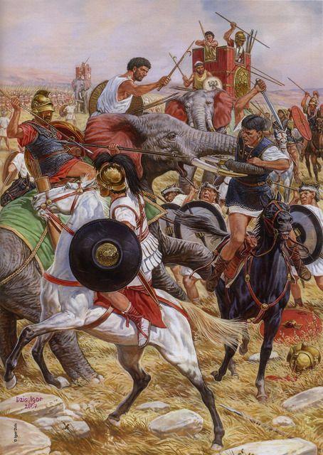 """""""La batalla de Ilipa (Alcalá del Río, Sevilla) tuvo lugar en la primavera del año 206 a. C., enfrentando a los ejércitos cartagineses contra las legiones romanas. El resultado fue una de las más importantes derrotas de los cartagineses en terreno hispano, durante la Segunda Guerra Púnica. Esta batalla fue decisiva en la retirada cartaginesa durante la conquista romana de Hispania""""."""