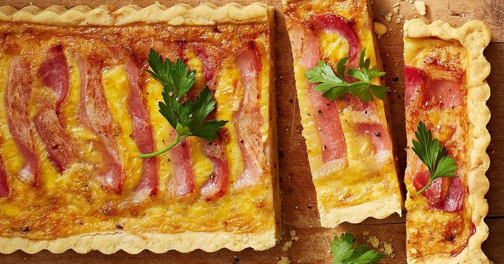 Buttery parmesan pastry offers a unique twist on the classic quiche lorraine.