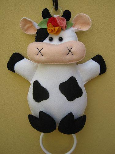Vaca toallero para la cocina. | costuras | Pinterest | Ems, Felt and Cloths