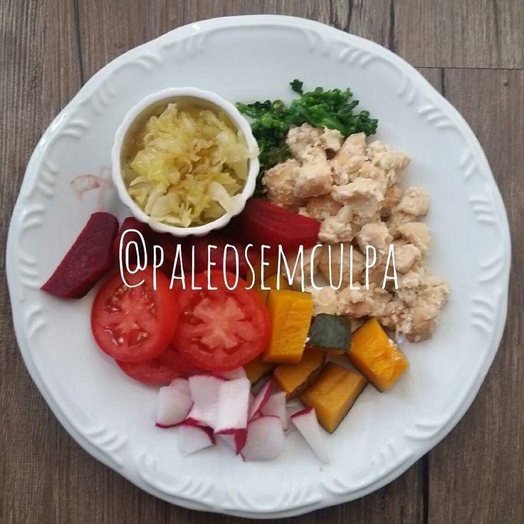 Almocinho de hoje: frango brócolis beterraba abóbora tomate rabanete e chucrute. Siiiim estava ótimo!  Tem dúvidas sobre a paleo? LINK NA BIO! #dieta #dietas #dietasempre #dietasemsofrer #dietapaleolitica #dietapaleo #paleo #paleofood #paleobrasil #paleolitica #paleolife #paleolifestyle #paleodiet #mydiet #eatclean #primal #primalfood #realfood #bixoeplanta #bichoeplanta #eatreal #fit #primalbrasil #fitfood #reeducacaoalimentar #saude #saudavel #vidasaudavel #comersaudavel #semmedodagordura