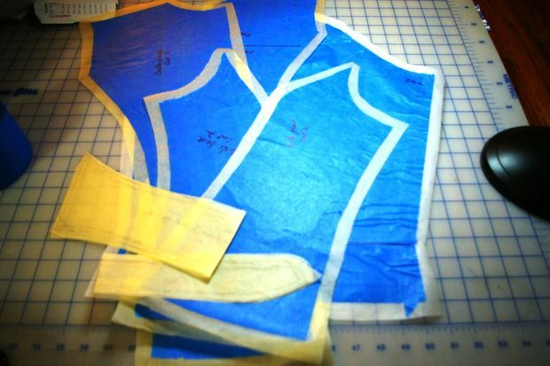 A friend asked me if I had tried this method to copy a garment. At first I was pretty skeptical because I have copied garments by taking them apart a... | See more about Sewing, Painters Tape and Eyewear.