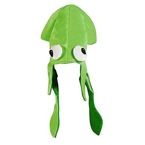 Funny St Patricks Day Hat Green Squid Cap Irish Bar Parade Office Adult One Size