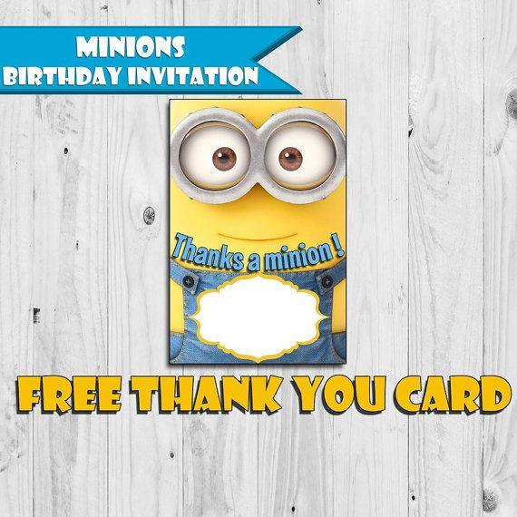 Minions Birthday Invitations Card Invitation by PVARTSTUDIO