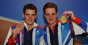 Alistair and Jonny Brownlee. Gold & Bronze in the Triathlon