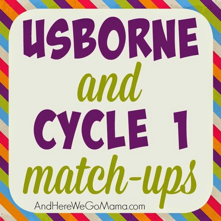 Usborne and CC Cycle 1 Match-Up at And Here We Go!