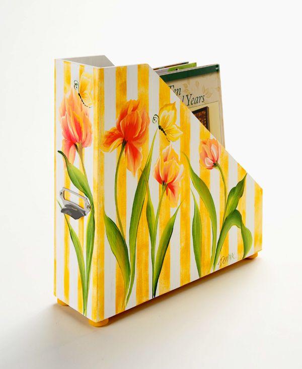 Craft Painting - One Stoke Wood Magazine Holder