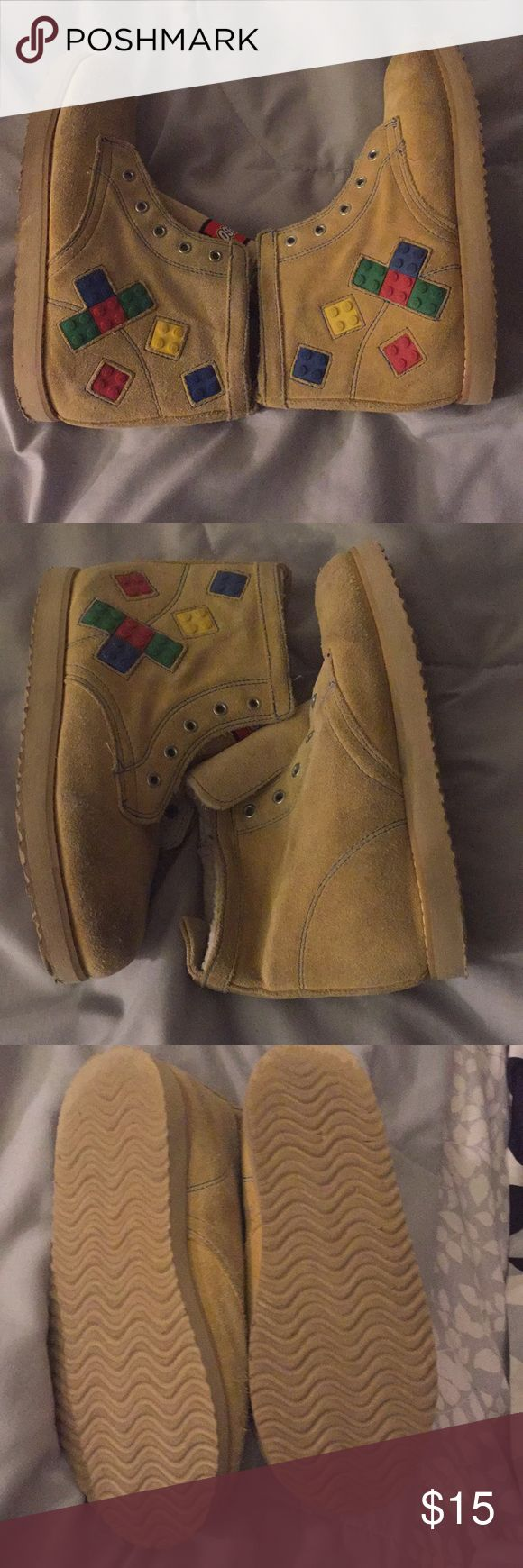 Suede Lego Kids Hiking Boots Lego Brand Boots / Good Condition/ No shoe strings/ you can add any color shoe string you kid loves. Lego Shoes Boots