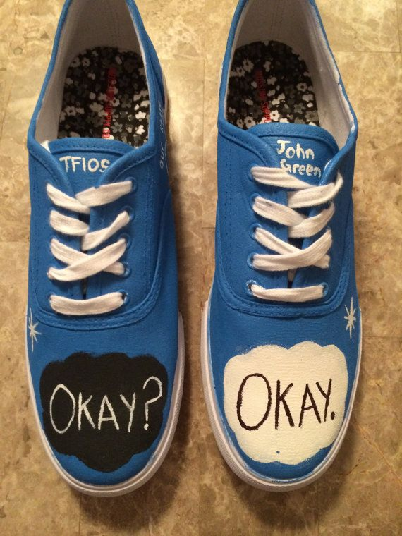 The Fault In Our Stars Handpainted Cutom by FandomPaintedShoes, $59.95