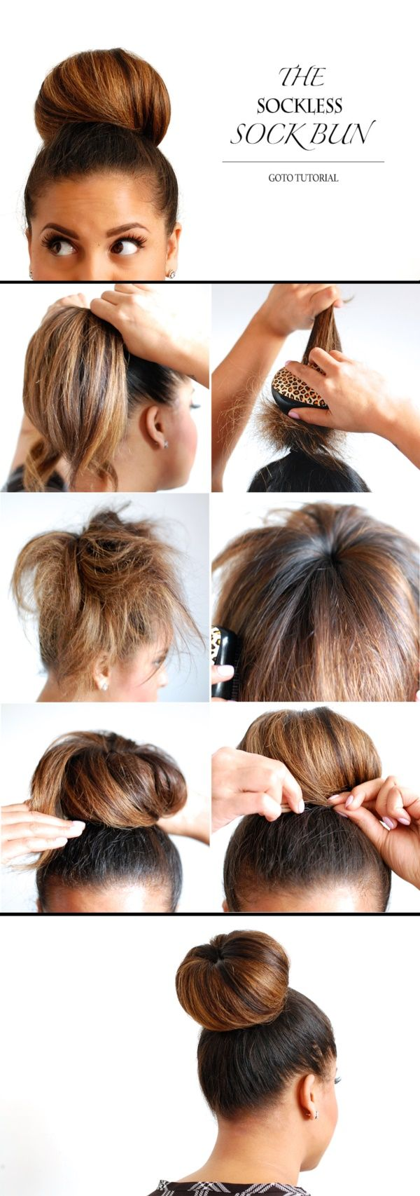 THE SOCKLESS SOCK BUN | HOW TO MAKE A SOCK BUN | TUTORIALS TO MAKE SOCK BUN | STEP BY STEP TUTORIALS FOR SOCK BUN | How to Make a Sock Bun: 18 Step by Step Tutorials