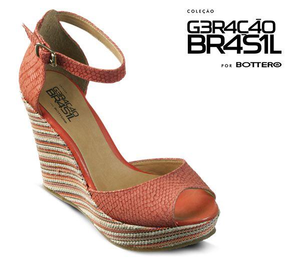 Sandália anabela 216421 - Bottero #sandalia #anabela #bottero #verao