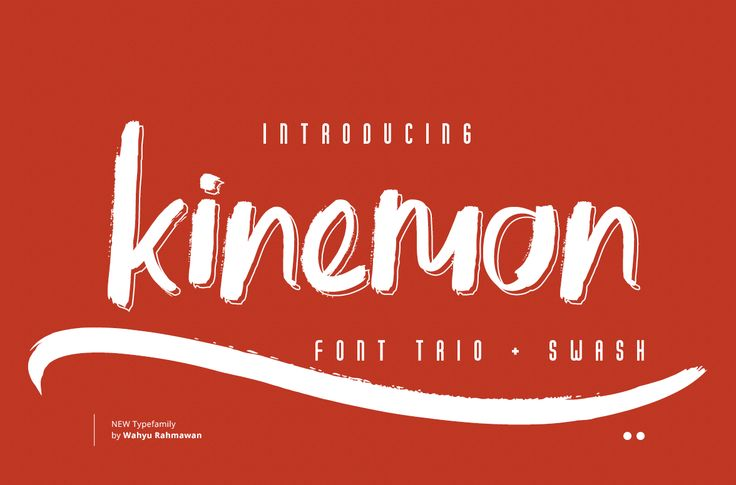 Kinemon Font + Swash by Factory738 on @creativemarket