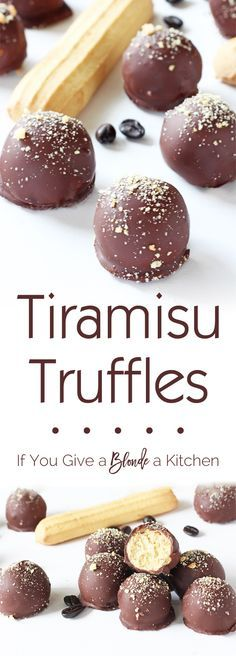 Tiramisu truffles are a wonderful blend of tiramisu flavors (think Italian biscuits, espresso and chocolate) in a delicious bite. The no bake recipe only uses six ingredients! | @haleydwilliams