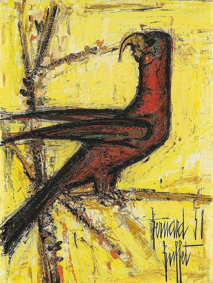 Bernard Buffet, The parrot, 1958