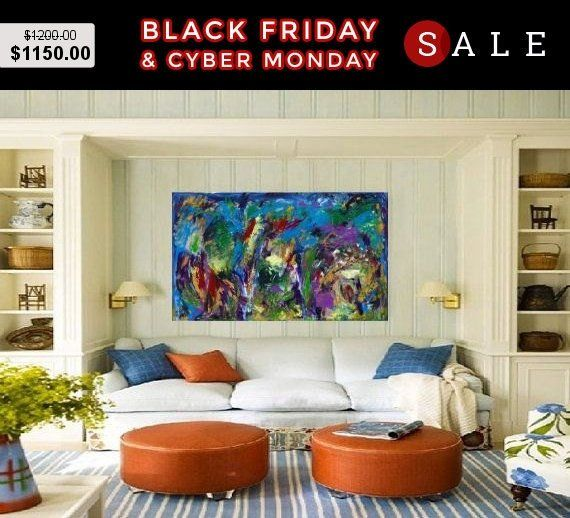 Awesome Big Abstract Blue Acrylic Art Rectangle Painting Living Download Free Architecture Designs Scobabritishbridgeorg