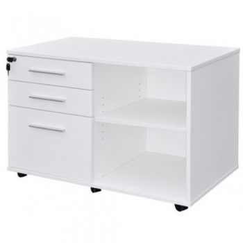 Cubit System Caddy Drawers LH Drawers- White