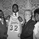 """June 25, 1979: With the 1st overall draft pick, the Los Angeles Lakers picked Magic Johnson from Michigan State University he was one of the """"hardship"""" players. #Laker4Life Johnson had just finished his sophomore season in college, became the 1st underclassman to be drafted 1st overall. He went on t...June 25, 1979: With the 1st overall draft pick, the Los Angeles Lakers picked Magic Johnson from Michigan State University he was one of the """"hardship"""" players. #Laker4Life Johnson had just…"""