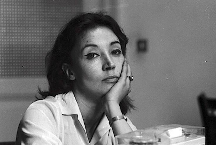 Oriana Fallaci (29 June 1930– 15 Sept 2006), Italian journalist, author, and political interviewer. A former partisan during World War II, she had a long and successful journalistic career. She became famous worldwide for her coverage of war and revolution, and her interviews with many world leaders during the 1960s, 1970s and 1980s. After retirement, she returned to the spotlight after writing a series of articles and books critical of Islam that aroused support as well as controversy.