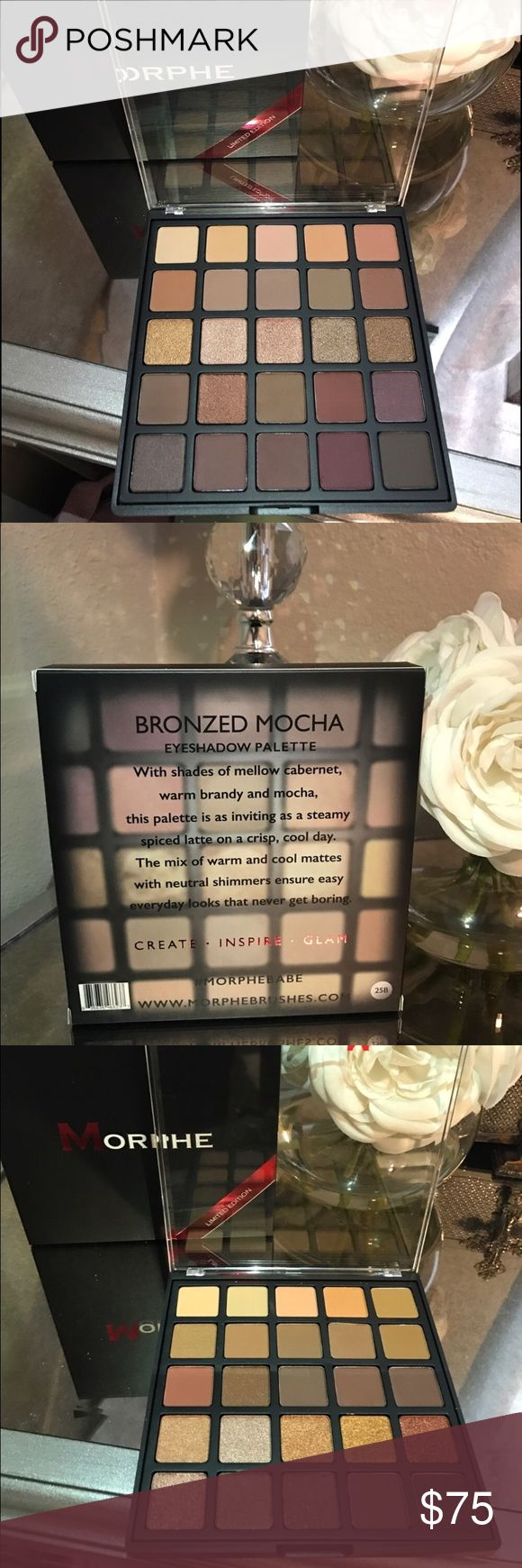 Morphe Copper Spice $ bronzed mocha pallets Brand New In Box!! Only taken out to take pictures. These items are SOLD OUT and are LIMITED EDITION! 100% Authentic. My last set of 4 that I had. Make sure to get yours before it's gone. Good luck Poshers!!!! morphe Makeup Eyeshadow