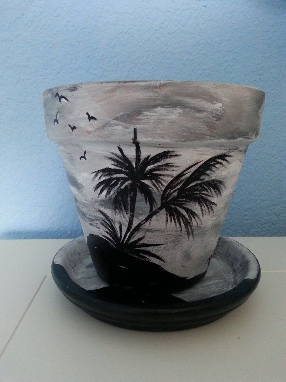 Best Painted Flower Pots Ideas On Pinterest Painting Pots - Diy two tone painted pots