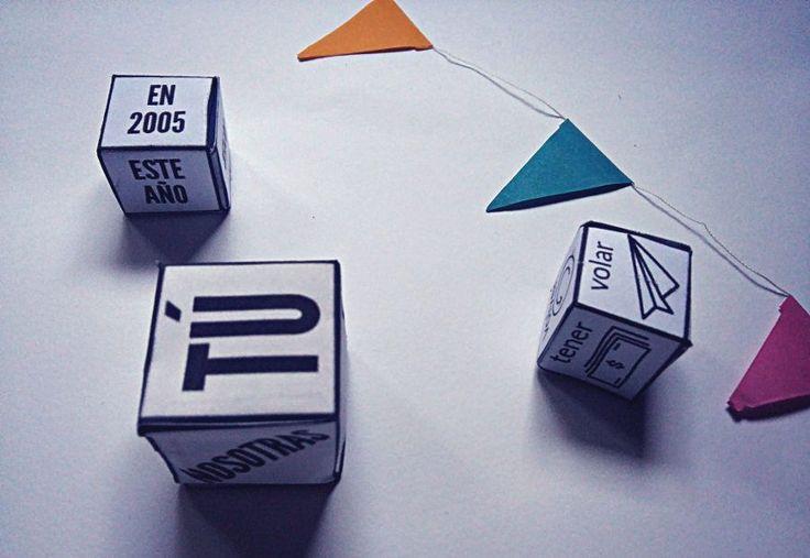 Dados, tableros, fichas y hasta el popular hundir la flota... Aprender verbos puede ser divertido :-)
