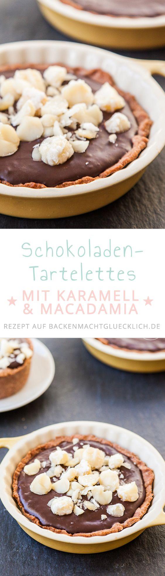 Schokoladen-Tartelettes mit zartschmelzender Creme und karamellisierten Nüssen. Ein perfektes Rezept für Schokoholics!