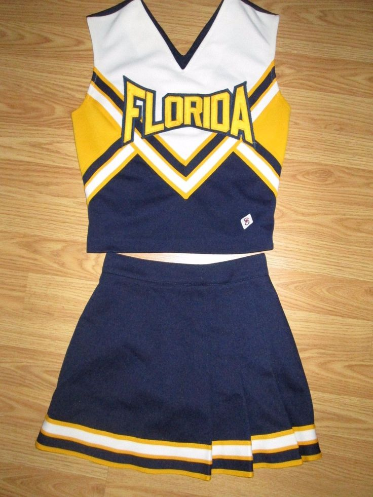 Teen Real Cheerleader Uniform Outfit Cheer Costume 32 23 Florida Sunshine State | eBay