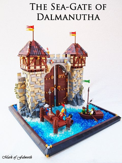 The Sea-Gate of Dalmanutha by Mark of Falworth on Flickr.  I just love the rough looking walls of the towers.  Great job.