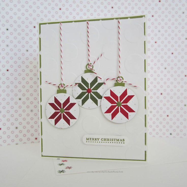 Merry Christmas Holiday Card, christmas card, embossed card, embellished with…