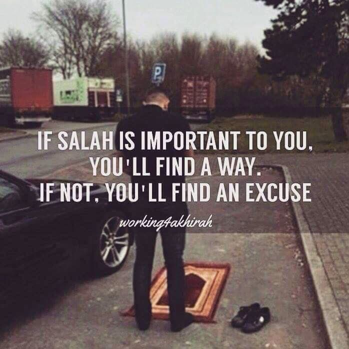 So true..you should always make salah your priority..Its the most effective way to preserve your relationship with Allah s.w.t..