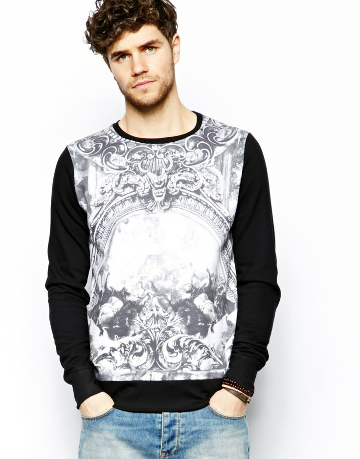 River Island Sweatshirt with Renaissance Print