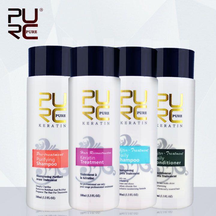 Cheratina stiratura dei capelli trattamento per 4 pz capelli shampoo e balsamo per capelli danneggiati riparazione e fare il trasporto libero
