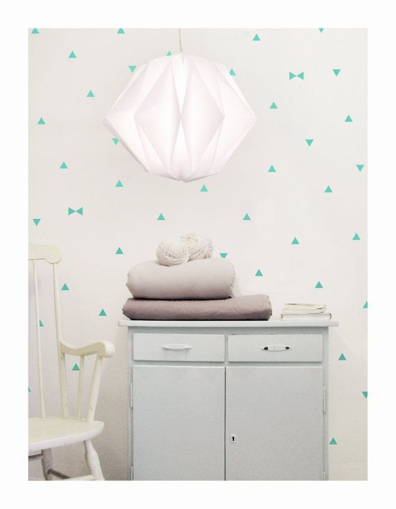 Set Of Three Mint Triangle Wall Decals Sheets Set Of by tayostudio