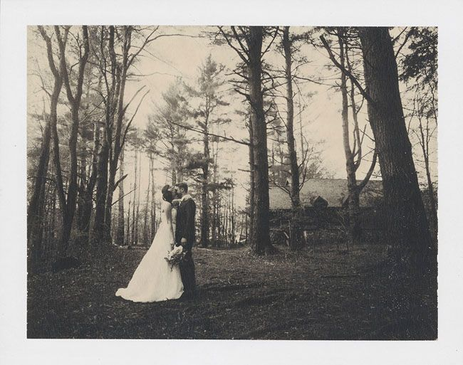 Polaroid wedding portrait