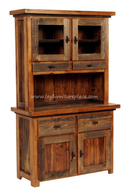 Enjoy the Beauty and Convenience of a Western Style Barnwood Hutch - Western Furniture Style