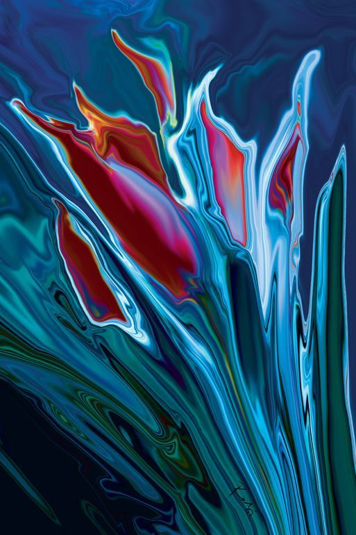 "Rabi Khan, Painting, 2010, ""Flower Unknown 2"""