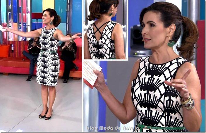 Look da Fátima Bernardes no programa Encontro do dia 1º de outubro