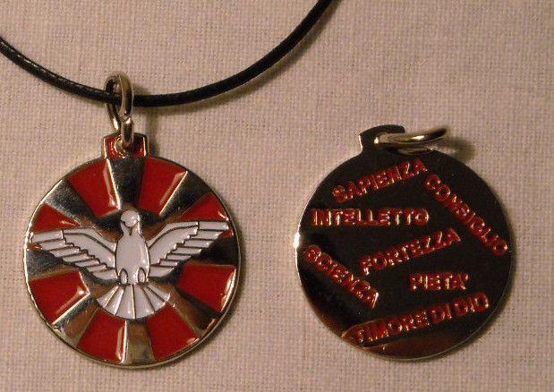 Holy Spirit Medal. 20 mm. Contact us on info@tiemmecreazioni.it