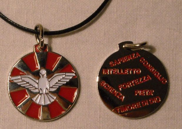 Holy Spirit Medal. 20 mm. Contact us on info@tiemmecreazioni.it
