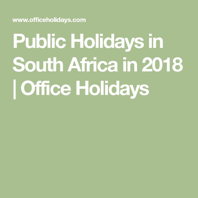 Public Holidays in South Africa in 2018 | Office Holidays