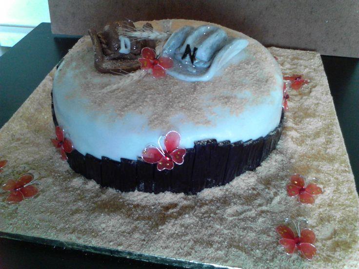 Western themed wedding cake - Wedding cake by Fairyfield cakes Krugersdorp fairfield@live.co.za 0839427354