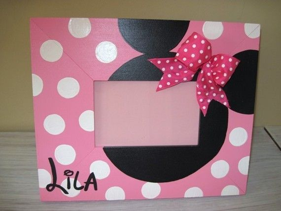 hand painted pottery picture frame   Hand painted Disney 4x6 picture frame by 4getMeNotGifts on Etsy, $30 ...
