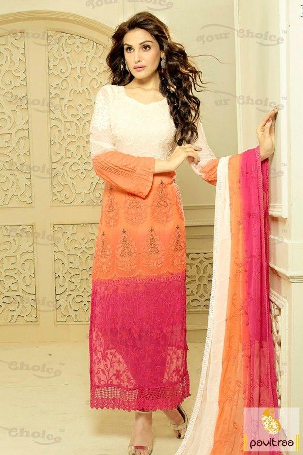 278 best Straight Cut Salwar Kameez Online images on Pinterest ...