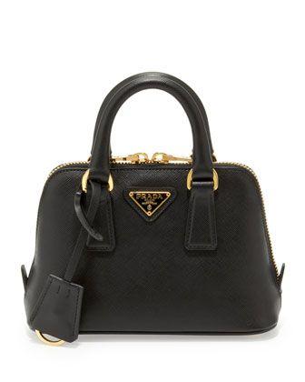 Prada Saffiano Mini Promenade Bag, Black (Nero), Women\u0026#39;s | Prada ...