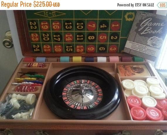 Now On Sale 1944 Casino Gambling Travel Board Game Briefcase#estate #estatefinds #estatejewelry #followmenow #wefollowback  #checkourEtsyShopNow4newlistings #vintagefashionjewelry #vintage #fashion #jewelry #buynow #statementjewelry #estyseller #signed #signedandunsignedbeauties #vintagefashion #vintagejewels #forwomen #signed&unsignedbeauties #formen #giftsformen #ETSYShopping #polyvoreshopping #etsyevolution #buynow #followmenow or #mancave #games #wefollowback  #gambling
