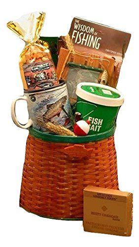 Traditional Fisherman's Fishing Creel Gift Basket - MEDIUM, ,